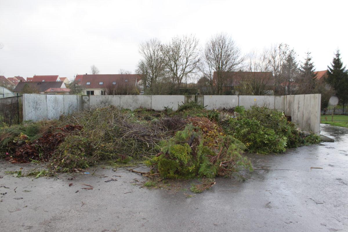 Fermeture hivernale du point déchets verts (Samer)