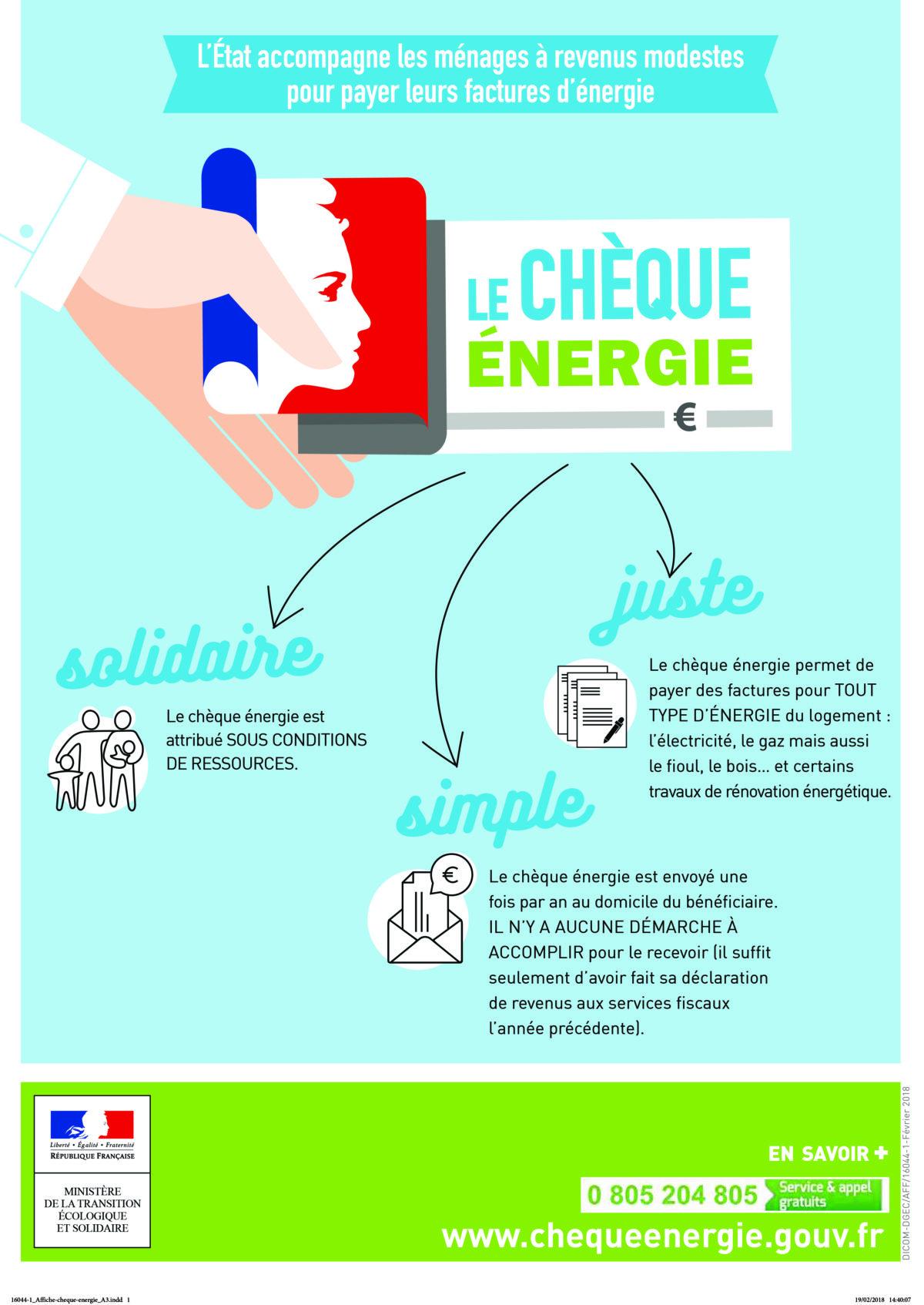 LANCEMENT DE LA CAMPAGNE D'ENVOI DU CHÈQUE ÉNERGIE 2020