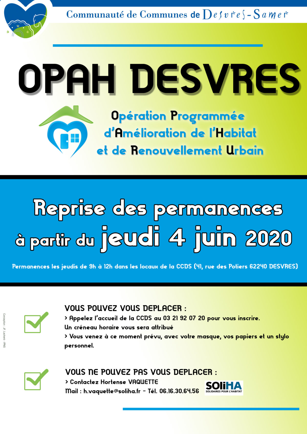 Reprise des permanences OPAH RU