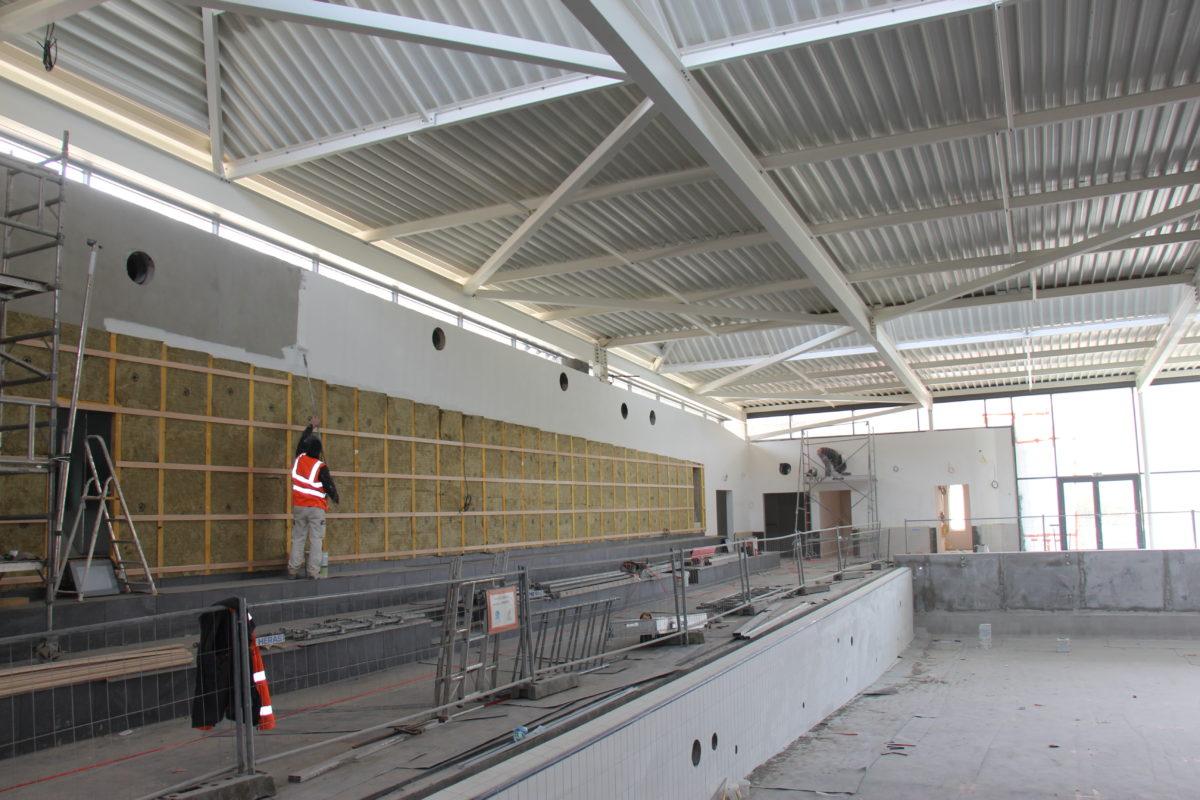 Point sur les travaux du centre aquatique (avril 2021)