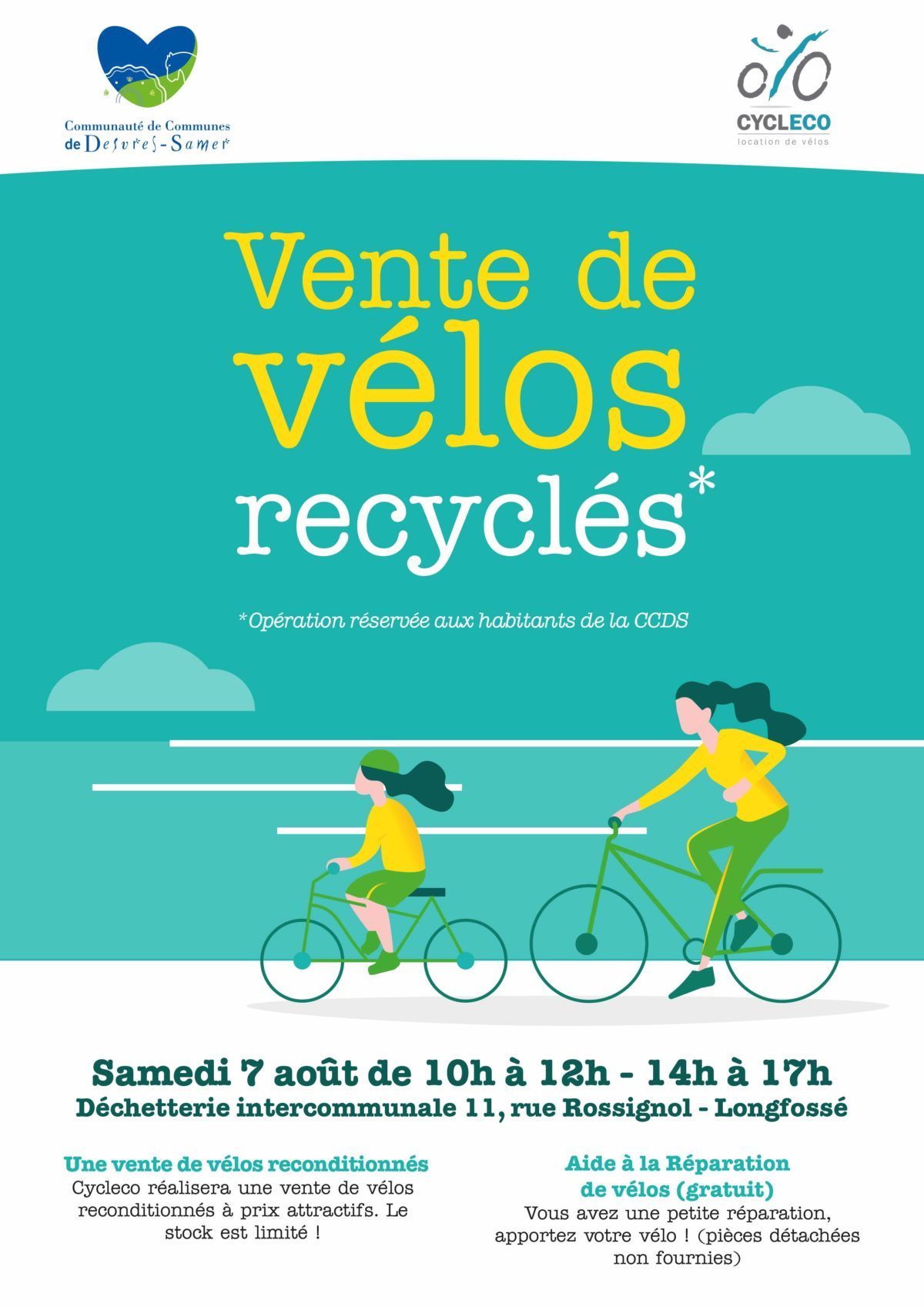 Vente de vélos recyclés